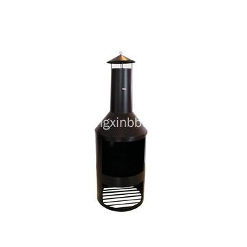 Grote Outdoor Garden Chimenea Black Fire Pit