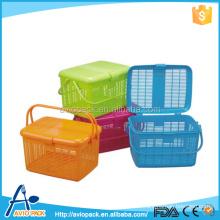 Unique design colorful PP plastic storage sundries basket