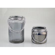 Beautiful Glass Lantern with Handle