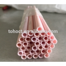 Grande qualité isolant en céramique tuyau 99.8 alumine zircone stéatite en céramique tube al2o3 tube