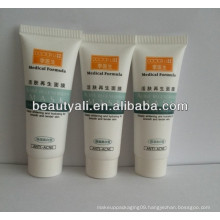100g PE soft plastic cosmetic packing white tube for body lotion with screw cap
