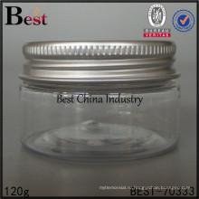 120г/130г/150г/250г пластичный косметический опарник, пустой пластиковый контейнер для жидкости , горячий продавать фляга алюминиевая крышка, один образец бесплатно