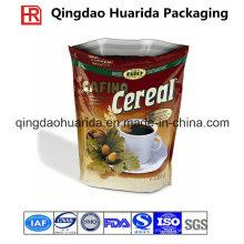 Levántese el bolso plástico de los granos de café / de café del FDA-Grado con la cremallera