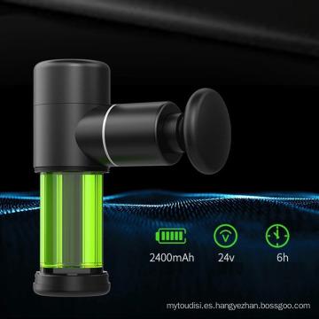Mini pistola masajeadora de mano con vibración de tejido profundo personalizada