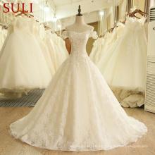 SL-407 por encargo Alibaba Desginer vestidos de boda 2017 en línea