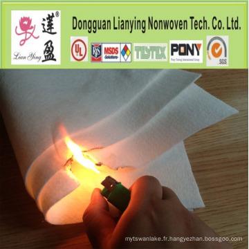Garniture retardatrice de flamme, fibre de polyester