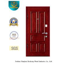 Chinesische Art Sicherheitstür für Eingang mit brauner Farbe (E-1008)