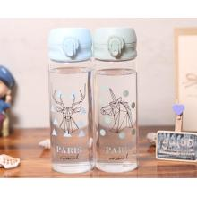 Reka Bentuk Baru Partten Glass Water Bottle For Wholesale