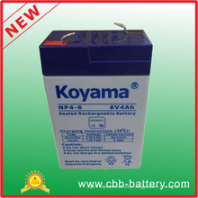 6V 4ah Lead Acid AGM Battery for Flashlight, Toy