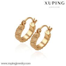29700 -Xuping Jewelry Moda chapado en oro Huggies Pendiente