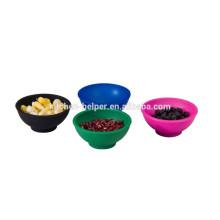 2015 новых продуктов силиконовая детская миска мини кухонная чаша