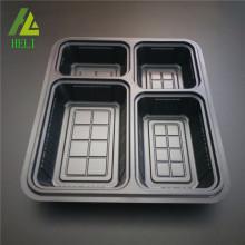 Boîte à lunch en plastique jetable à 4 compartiments