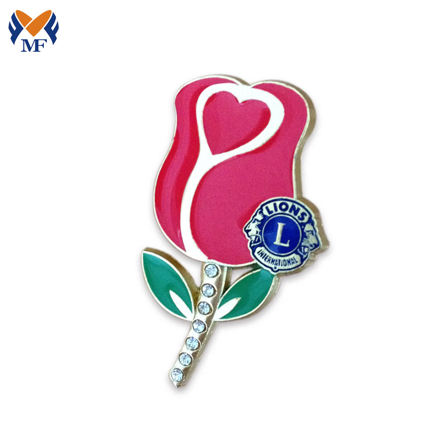 Rose Flower Lapel Pin