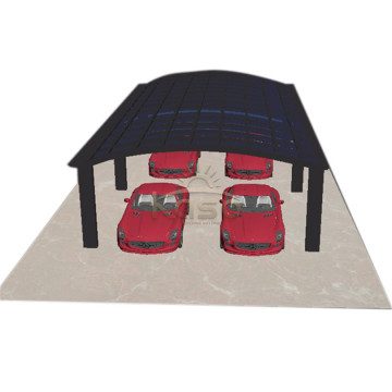 DiyStructure Car Parking Shed Steel Single Slope Carport