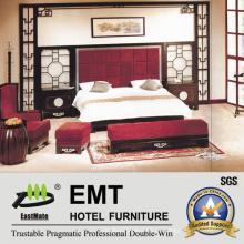 Представительская гостиничная мебель с китайским дизайном, роскошная спальня (EMT-D0902)
