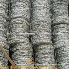 10 # x 12 # alambre de púas galvanizado caliente-sumergido con precio razonable en almacén