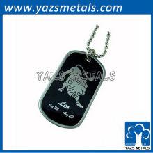 personalize a etiqueta de cão do exército do horóscopo, etiqueta de cão Leo