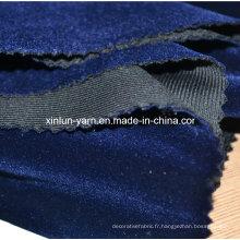 100% tissu de flocage de tissu de flocon de polyester, tissu de rideau, tapisserie d'ameublement