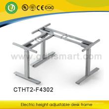 nuevo diseño y más populares pies de elipse 3 patas de altura eléctrica ajustable marco de escritorio hecho en China