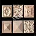 rubber wood carved decorative corner block rosette for furniture