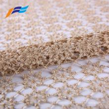 Cortina elegante de la malla del cordón de las rosas del poliéster de la materia textil casera