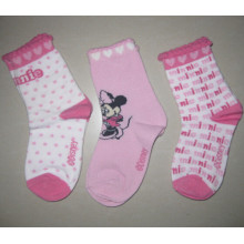 Disney Mickey Socks Girls Pink and White Socks Children Tube Socks