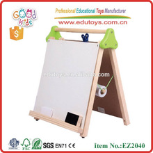 2015 good quality tabletop easel OEM wooden mini easel wholesale kids learning board EZ2040