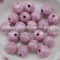 Rosa Farbe Sparking Acryl Tiny Runde Perlen DIY Schmuck Crackle Finding Charms