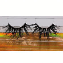 SL022H Hitomi Private Label Siberian Mink Eyelashes soft natural mink eyelashes Fluffy 25mm Magnetic Mink Eyelashes