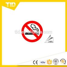 Não fumar sinais e etiquetas, material reflexivo