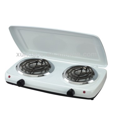 2 Burner Portable Electric Hotplate dengan Cover