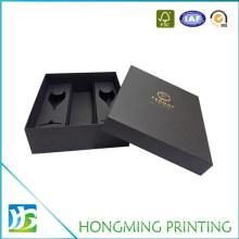 2 Peice Black Cardboard Champagne Flute Gift Box