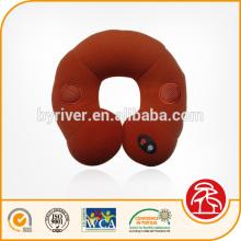 Capa de velo de micro-macio travesseiro de viagem música massagem de vibração