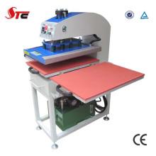Machine hydraulique de presse de la chaleur de double station de grande pression pour le T-shirt