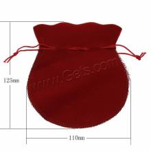 Ювелирная фабрика Бархатная сумка Custome Воск Хлопчатобумажный шнур Ювелирные изделия Упаковка