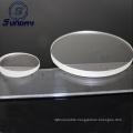 Polished Circular Clear Quartz Glass Windows Fused Silica Disc With Hole