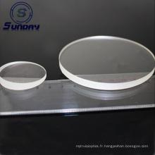 Lentille ronde de prisme de verre optique de prisme