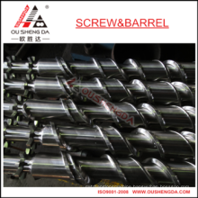 Plastic film extruder screw barrel for film blowing machine