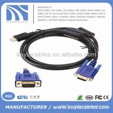 1.8M Gold HDMI Мужской к VGA Мужской кабель конвертера 6FT 1080p