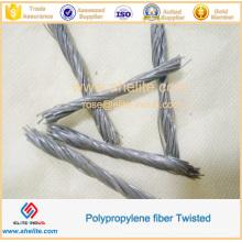 Polypropylebe Concrete Twisted Fibre para Suelo
