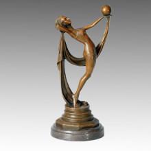 Estatua de Bailarín de Balonmano Escultura de Bronce, Milo TPE-378