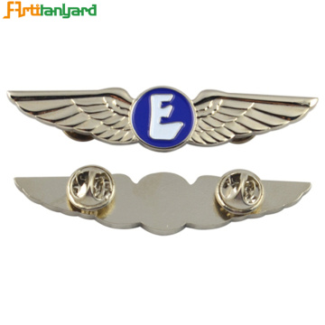 Custom Push Eagle Wing Lapel Enamel Pin
