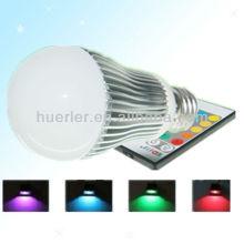 Manufacturer offer with CE RoHS E27 100-240v 5W remote control rgb light bulb