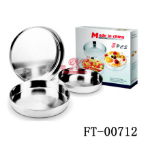 3pcs нержавеющую сталь круглого торта лотка (FT-00712)