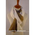 Novo design 2 tons malha lenço / xaile