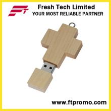 Крест бамбука & древесины стиль USB флэш-накопитель (D807)