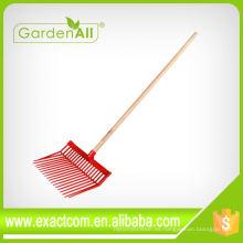 Rake de jardinería Utilizado 18 Teeth Plastic Bedding Garden Fork