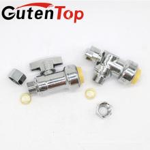 """GutenTop высокое качество 1/2"""" плотное х 3/8"""" сжатия ОД 1/4 поворота угол остановить клапан сертифицированы nsf ANSI61 бессвинцовая латунь"""