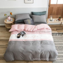 Simple Style Condo Stitching Pattern Cheap Price Microfiber Brushed Bedding Set