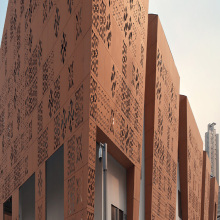 Lembar Cladding Laser Cut Corten Steel